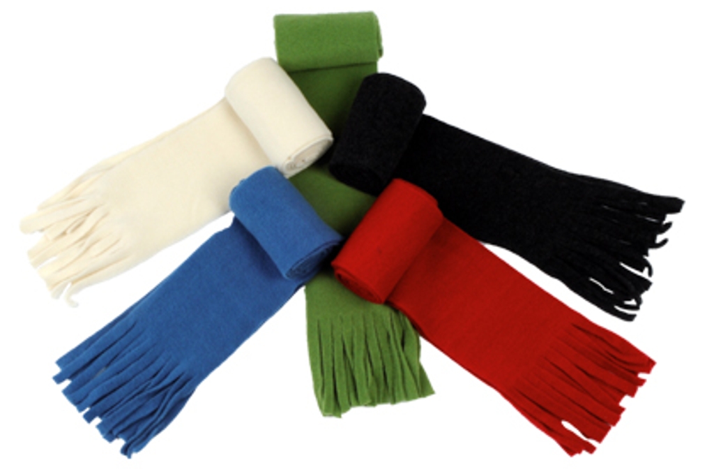 Organic Wool Fleece Scarf for Adults
