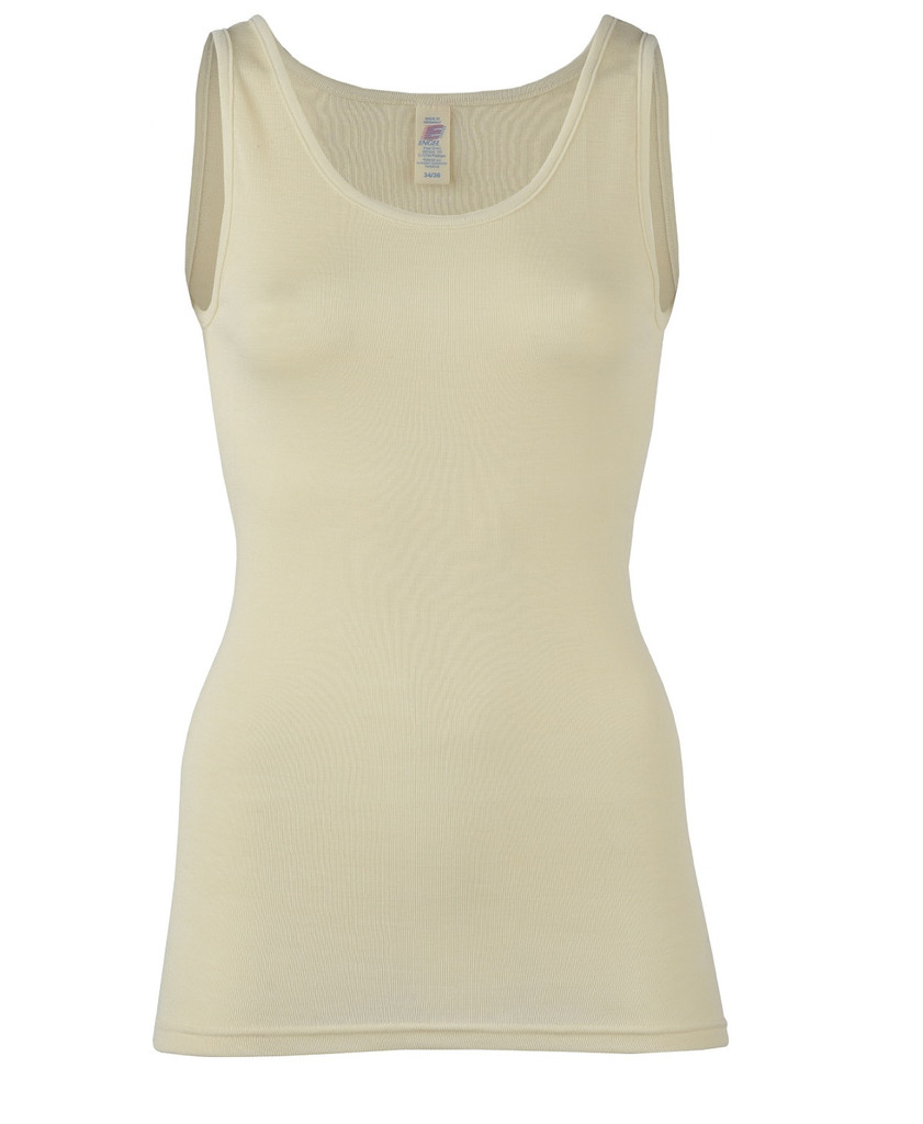Wool/ Silk Tank Top for Women Color: Natural