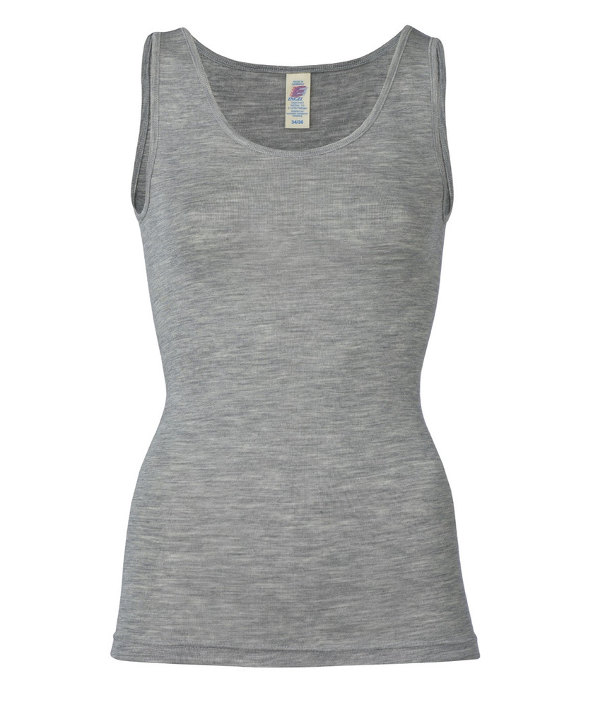 Wool/ Silk Tank Top for Women Color: Grey