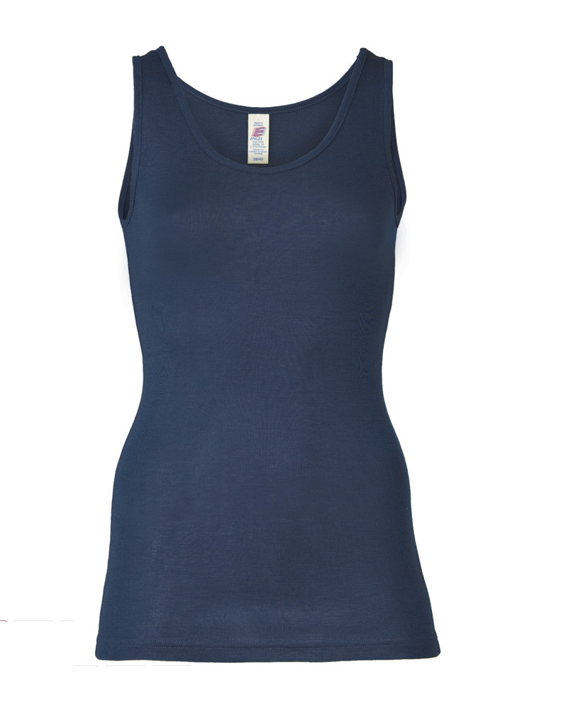 Wool/ Silk Tank Top for Women Color: Navy