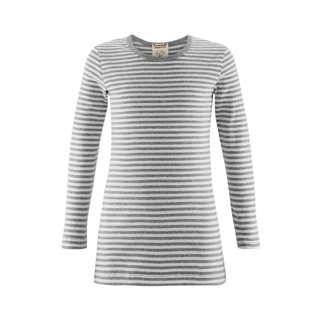 Organic Cotton Long Sleeved Shirt for Children Color: Grey Striped