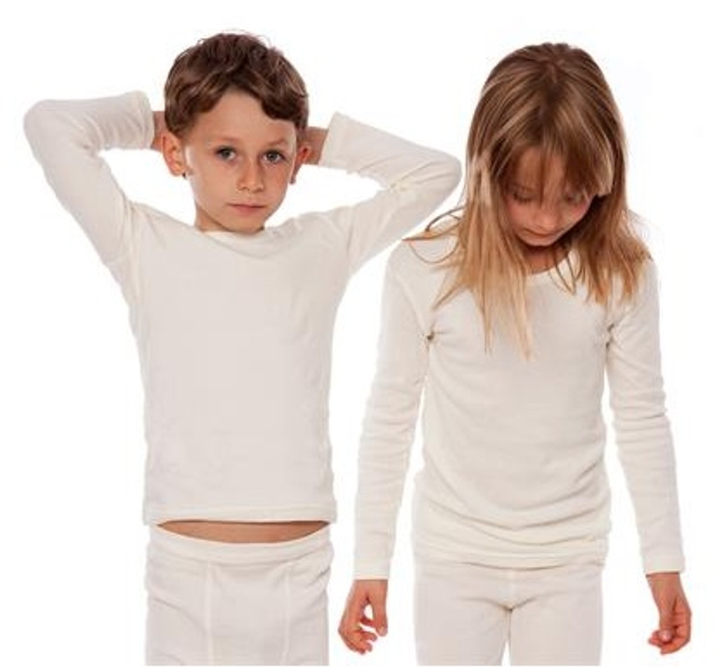 Organic Cotton Long Sleeved Shirt for Children Color: natural