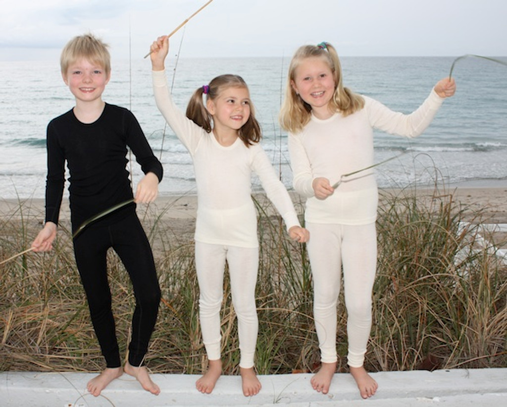 Ruskovilla Organic Wool/Silk Long Underwear Pants for Children