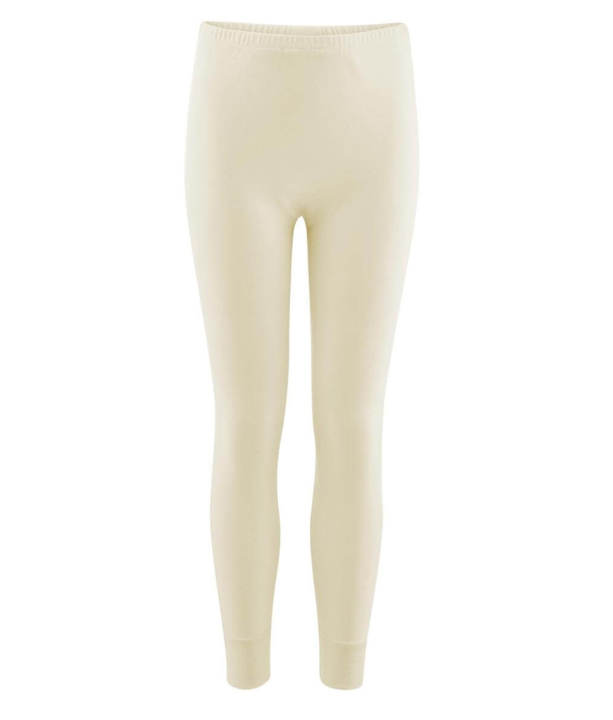 Organic Cotton Kid's Long Underwear Pants Color:  Natural