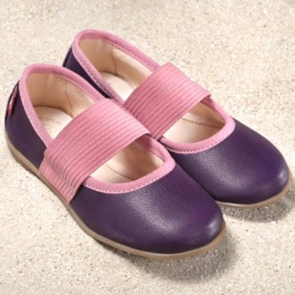 "Natural Leather Children's Ballerina Shoes-  ""Fleur"""