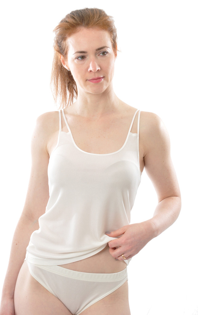 Organic Silk Women's Camisole with Double Straps