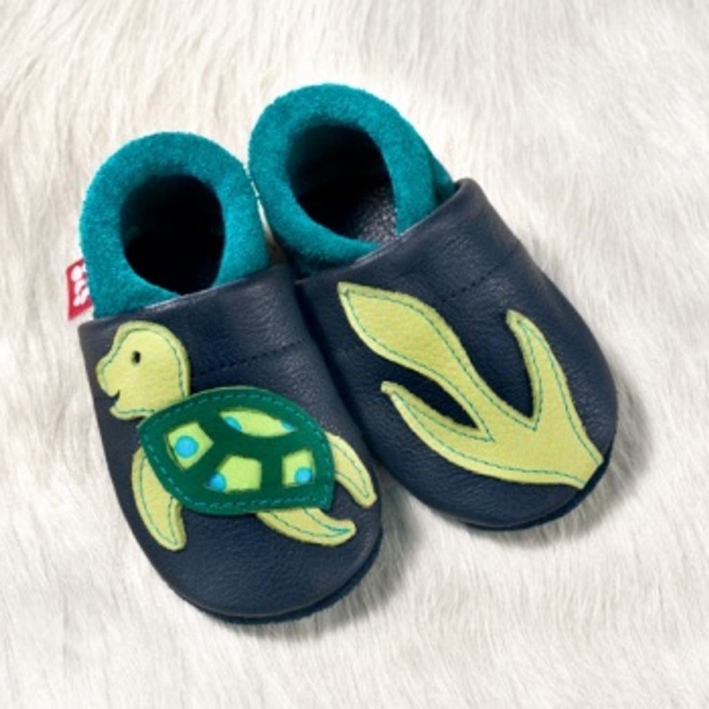 """Natural Leather Soft-Soled Indoor Slippers 