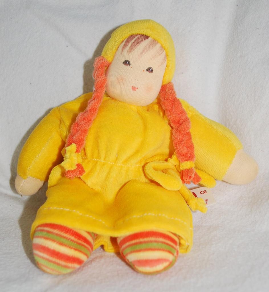 Organic Cotton Doll with Braids _ Yellow