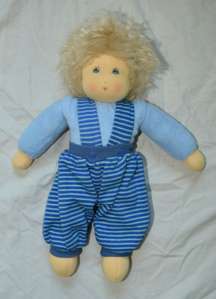 Organic Cotton Waldorf Doll | Clara Blue