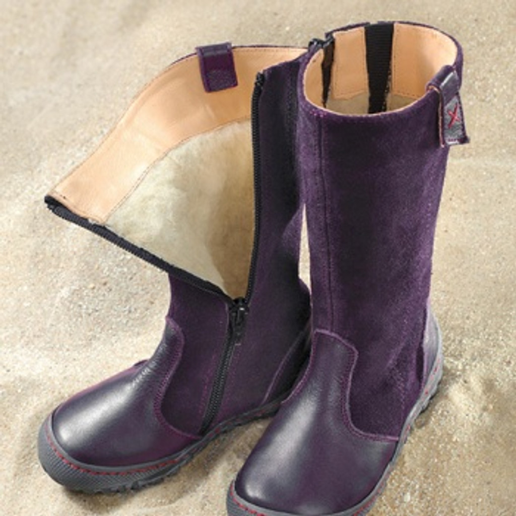 Natural Leather, Lined Winter Boots