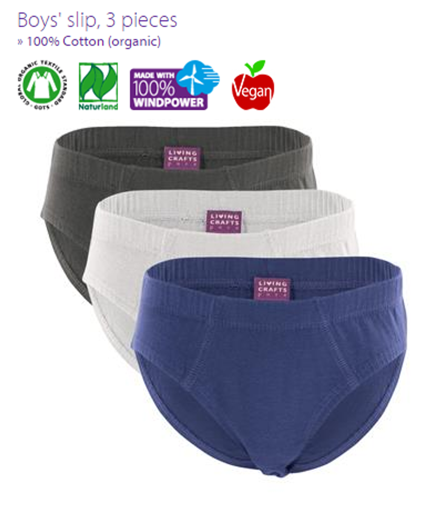 Organic Cotton Underwear| Living Crafts | Boy's 3 pack