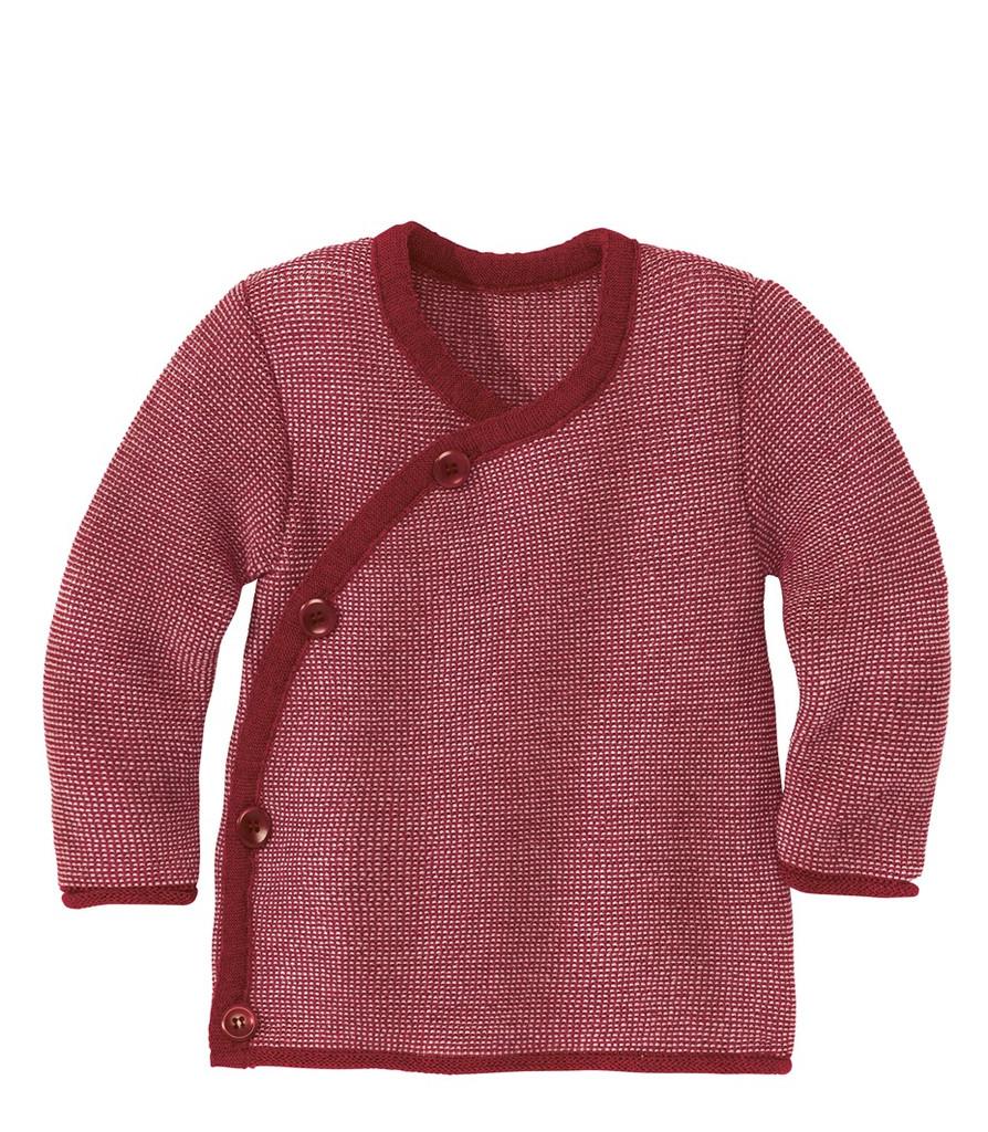 Disana Organic Wool Melange Jacket Sweater Color: 933 Bordeaux Rose