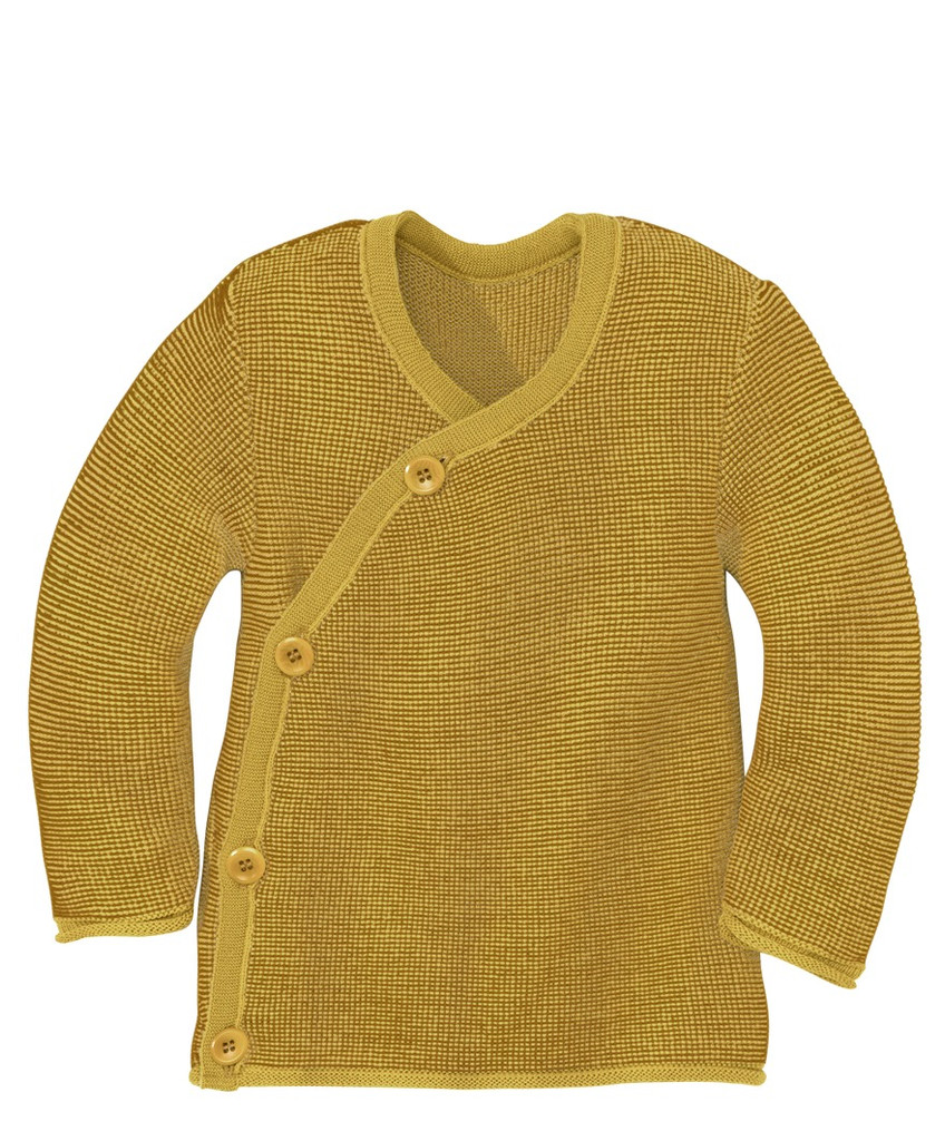 Disana Organic Wool Melange Jacket Sweater Color: 978 Curry Gold