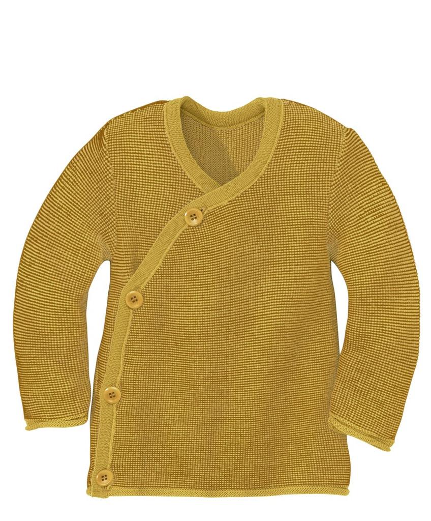 Disana Organic Wool Melange Jacket Sweater Color: 978 Curry Gold