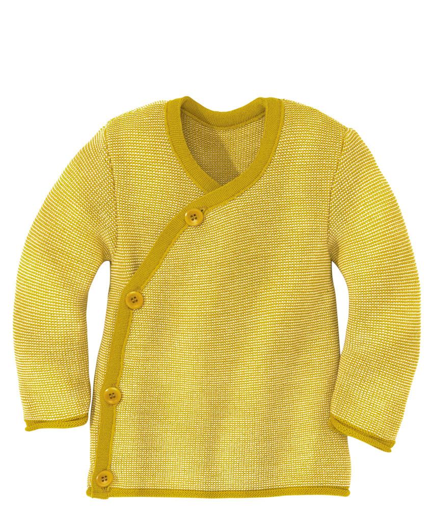 Disana Organic Wool Melange Jacket Sweater Color:  71 Curry Nature