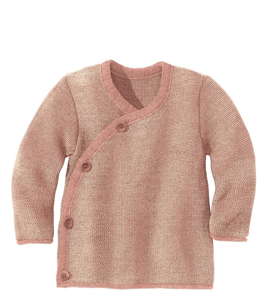 Disana Organic Wool Melange Jacket Sweater Color: 931 Rose Nature