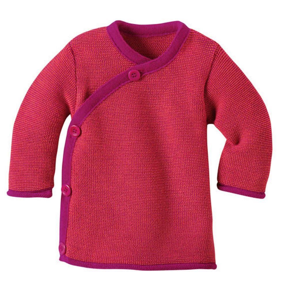 Disana Organic Wool Melange Jacket Sweater Color: Berry