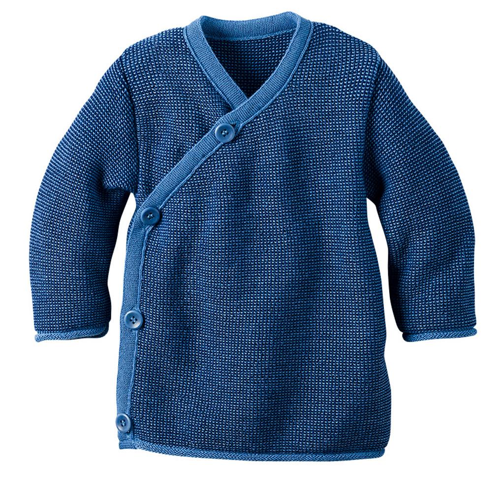 Disana Organic Wool Melange Jacket Sweater Color: Blue