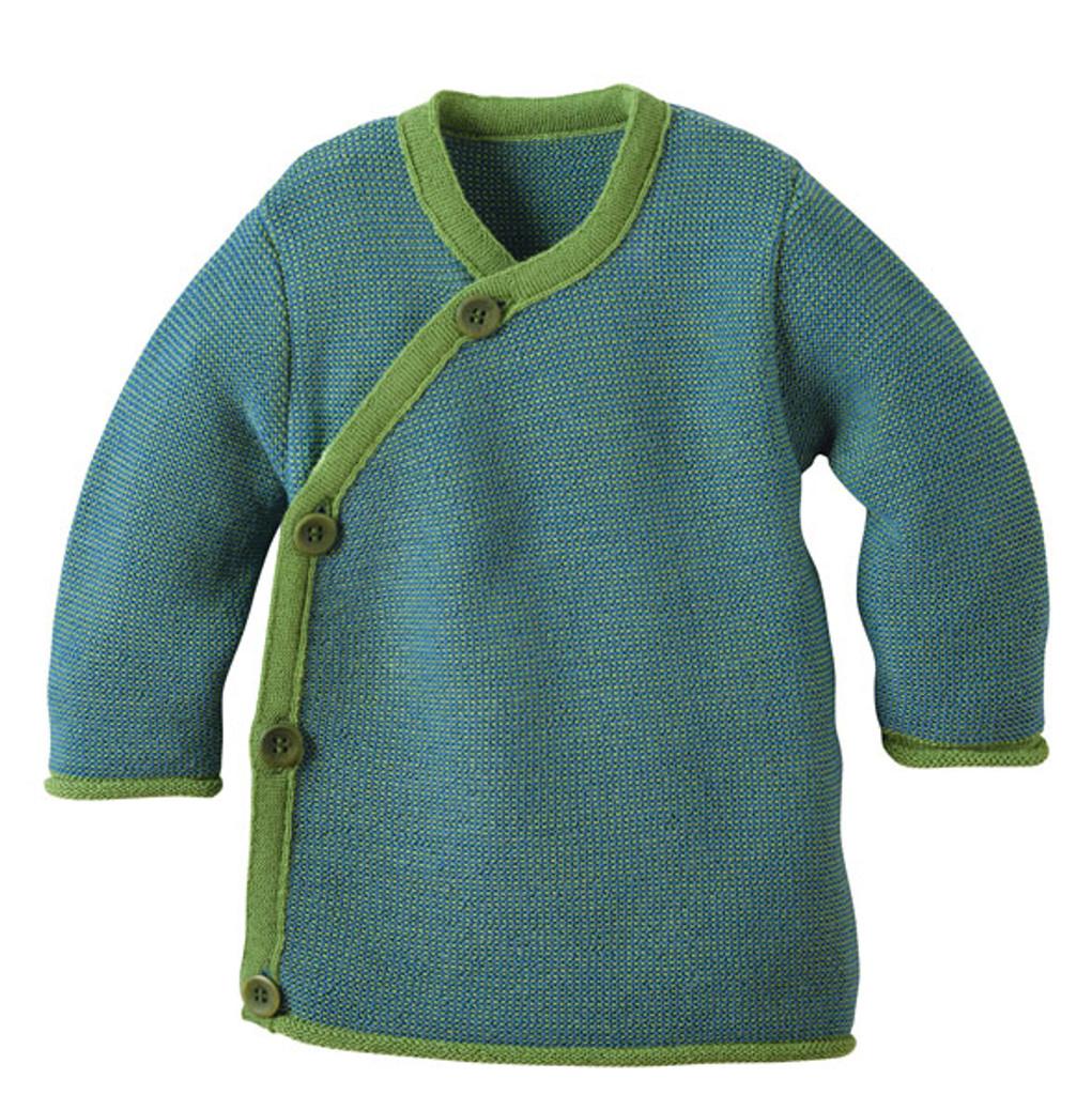 Disana Organic Wool Melange Jacket Sweater Color: Green