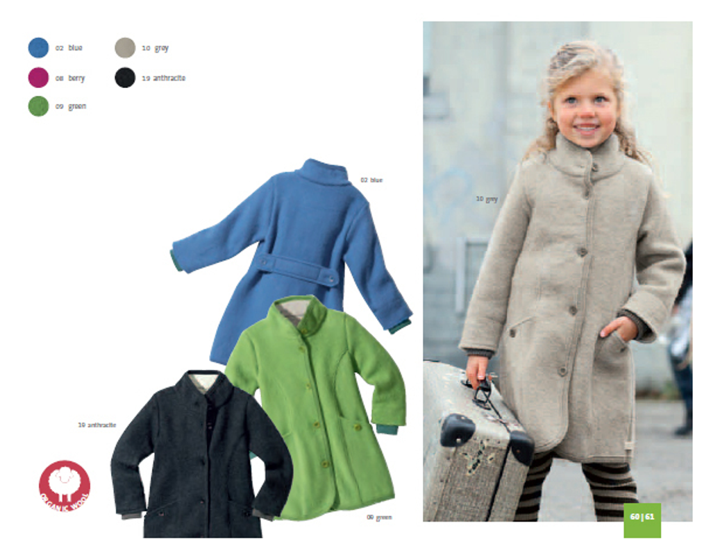 Disana Organic Boiled Wool Children's Coat