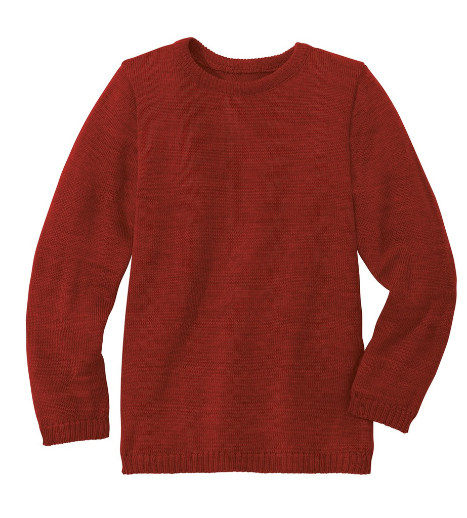 Disana Organic Wool Basic Lightweight Sweater Color: 398 Bordeaux
