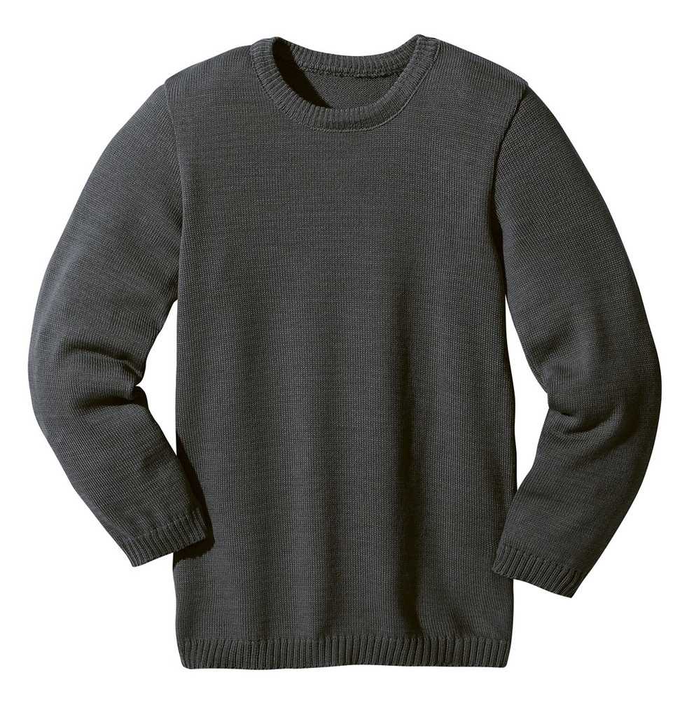 Disana Organic Wool Basic Lightweight Sweater Color: Anthracite