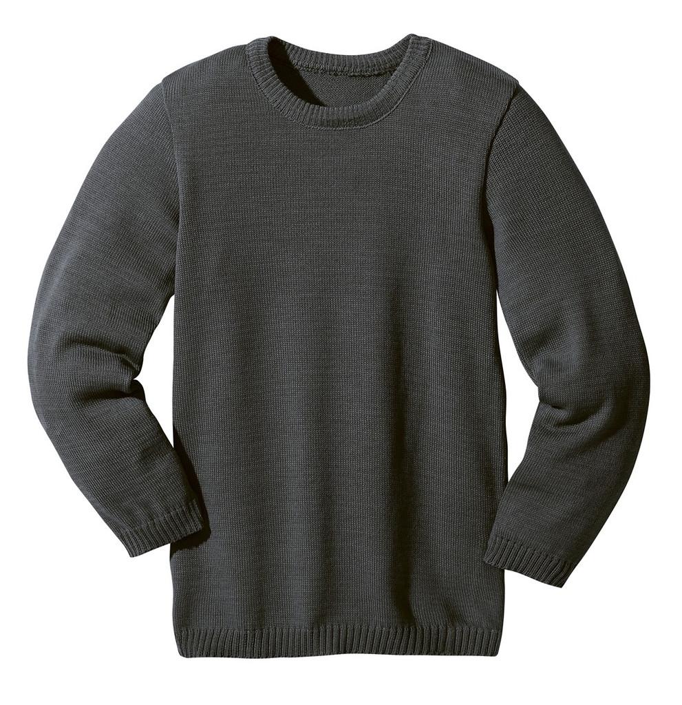 Disana Organic Wool Basic Lightweight Sweater Color: Anthracite
