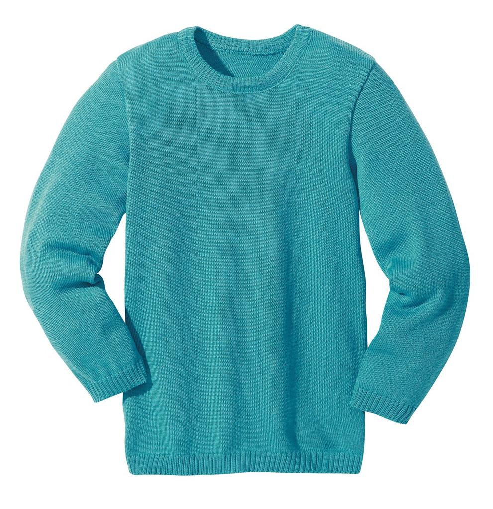 Disana Organic Wool Basic Lightweight Sweater Color: Lagoon