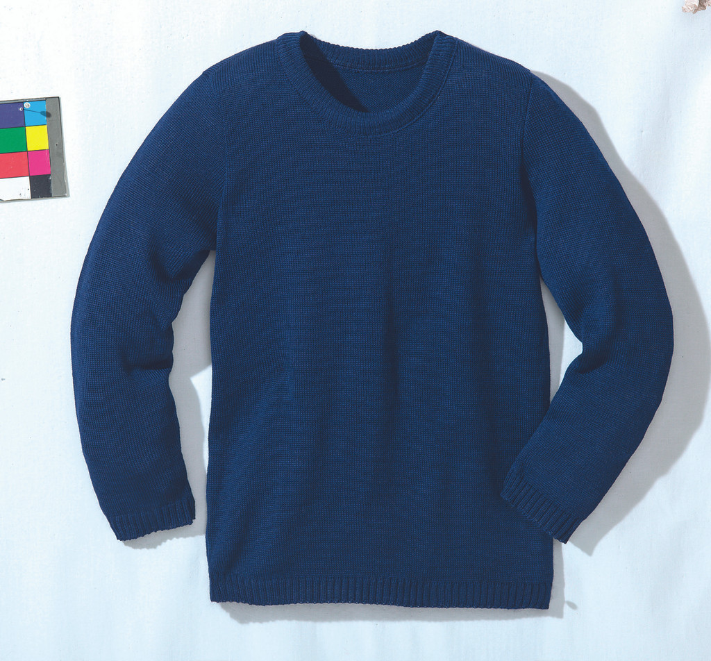 Disana Organic Wool Basic Lightweight Sweater Color: Navy