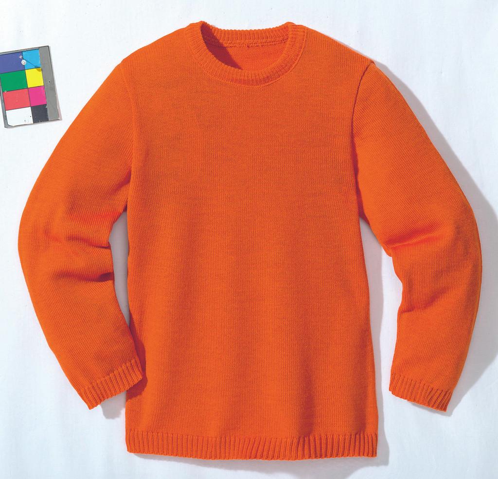 Disana Organic Wool Basic Lightweight Sweater Color: Orange