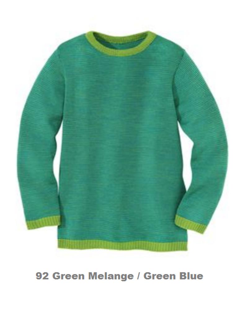 Disana Organic Wool Basic Lightweight Sweater Color: Green Melange