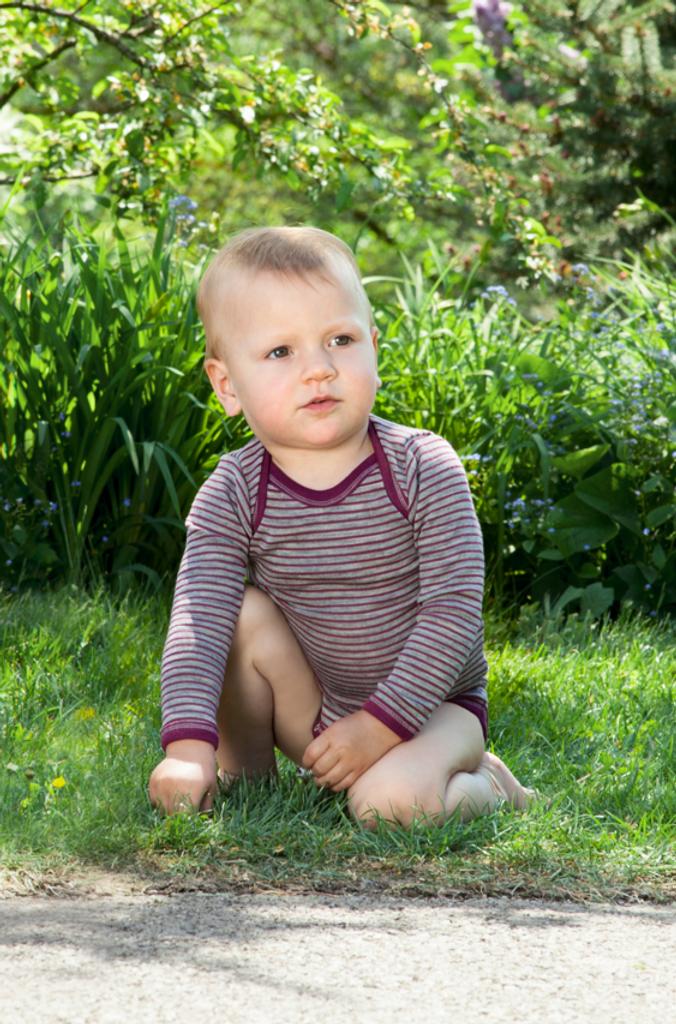 Organic Merino Wool/Silk Baby Bodysuit