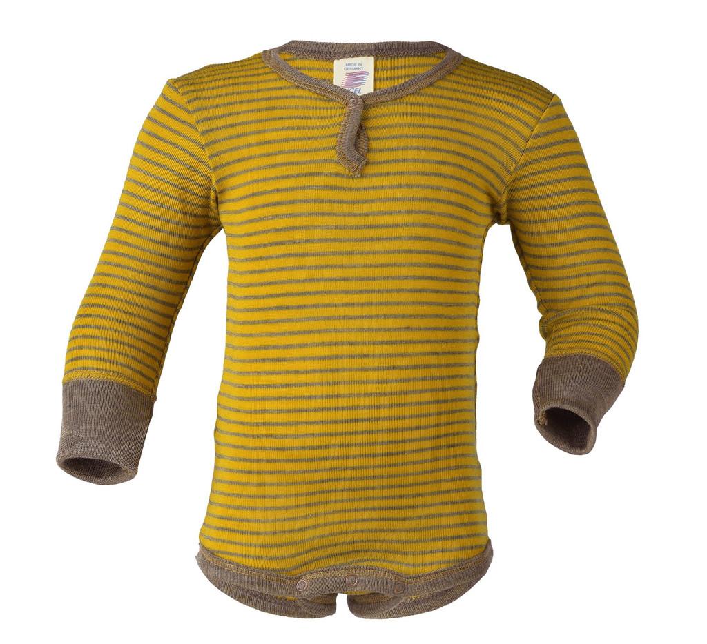 Organic Merino Wool/ Silk Long Sleeved Bodysuit
