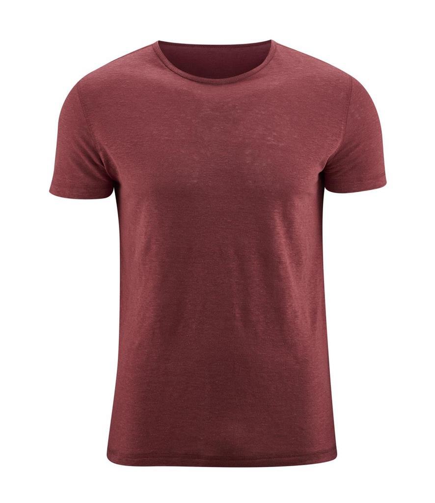 T-Shirt Organic Linen  Color:  553 rosso