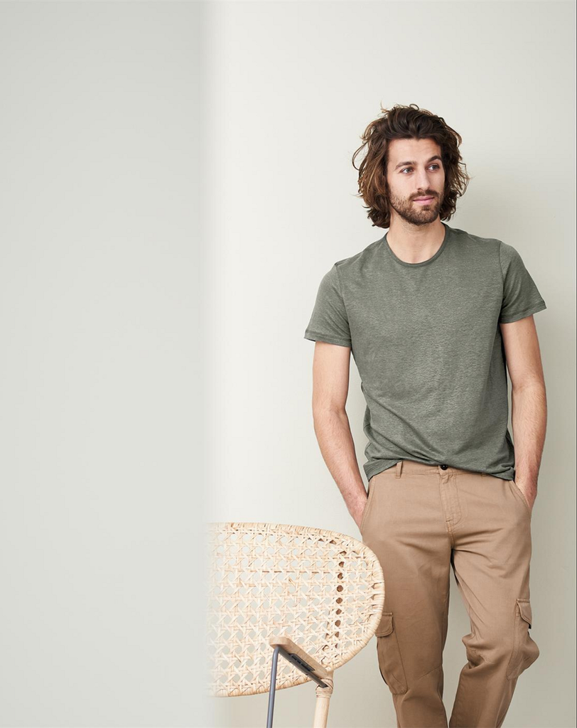 T-Shirt Organic Linen  Color: 57 khaki
