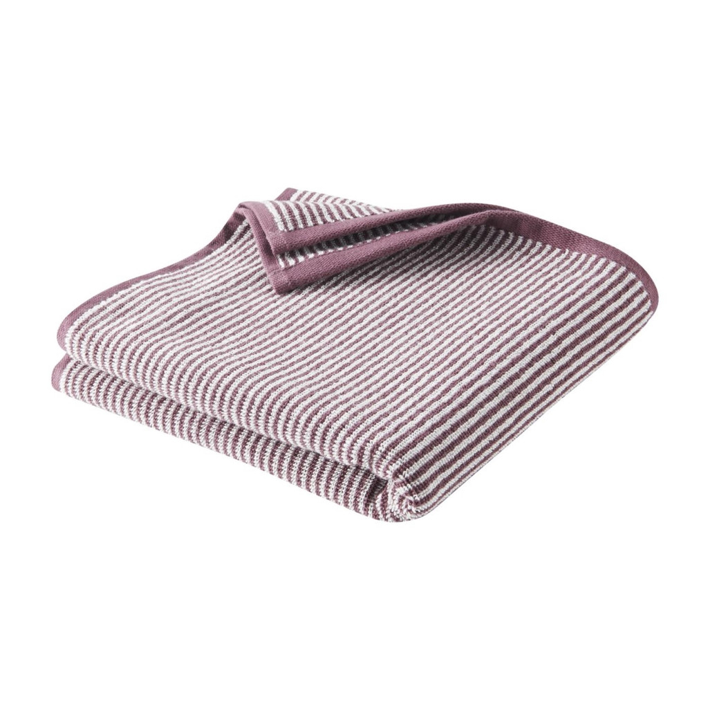 Hand Towel , Organic cotton Color: 543 light plum/natural