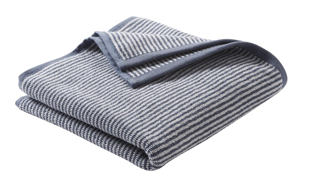 Hand Towel , Organic cotton Color: Infinity Blue / Natural Striped