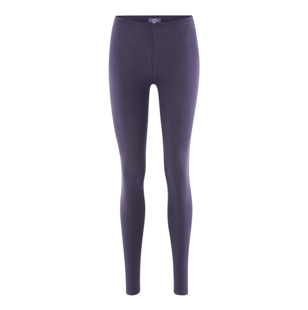 Women Organic Cotton Leggings Color: 83 plum
