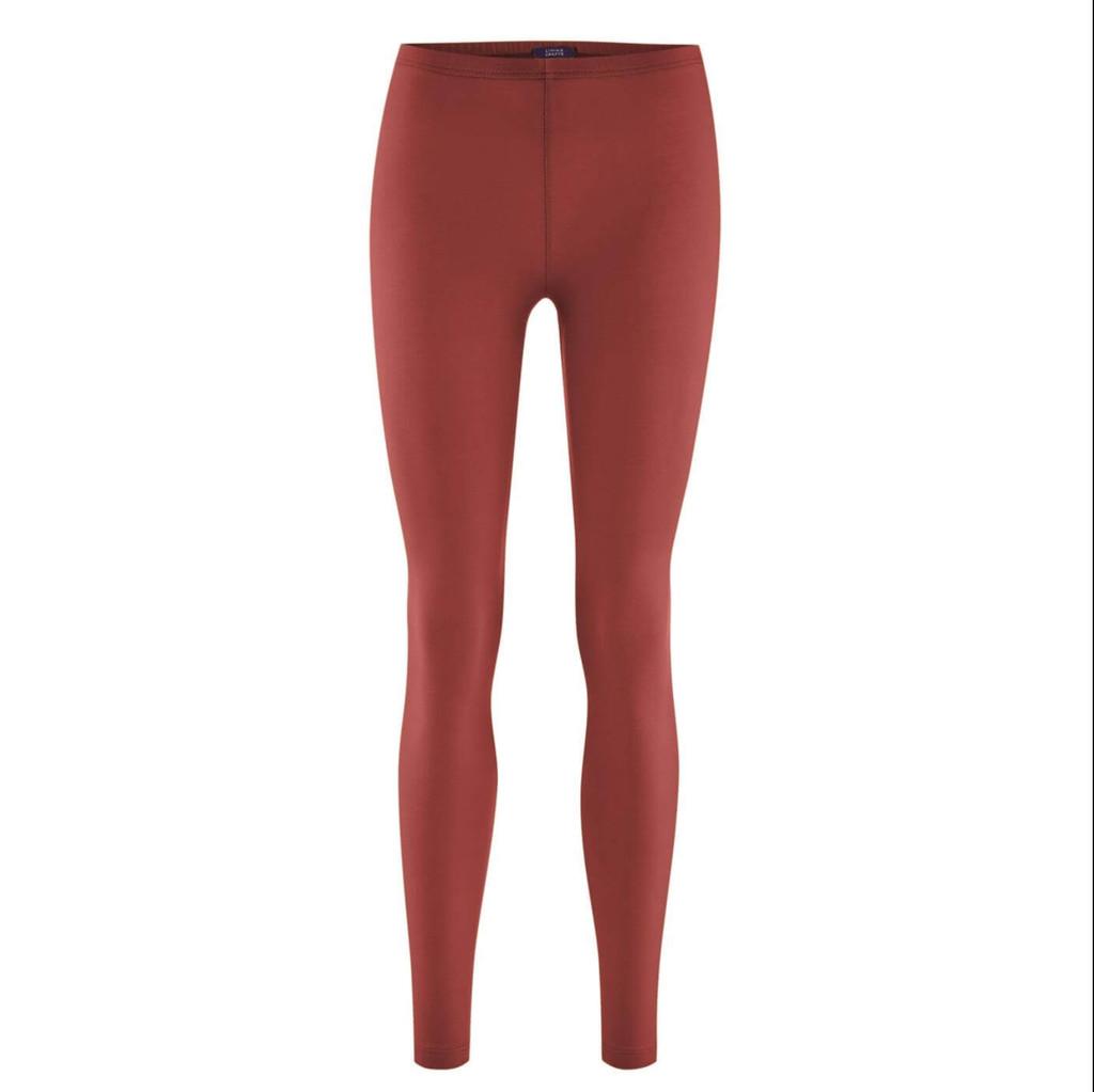 Women Organic Cotton Leggings Color: 869 chestnut