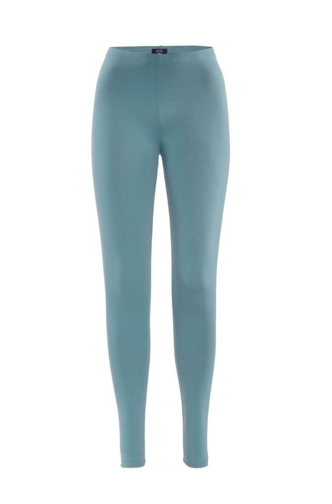 Women Organic Cotton Leggings Color: 909 cameo blue