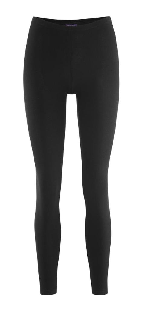 Women Organic Cotton Leggings Color: Black
