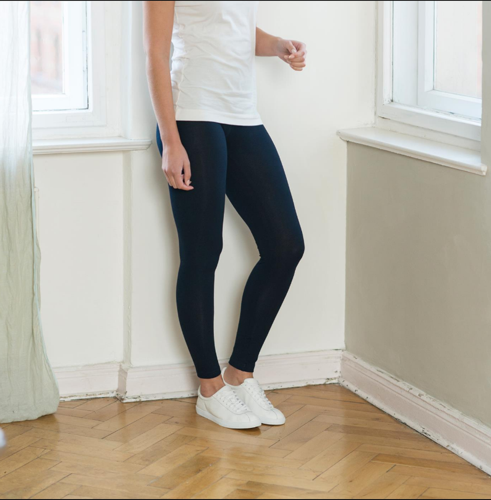 Women Organic Cotton Leggings Color: dark navy