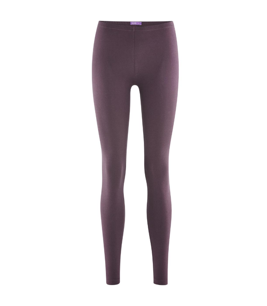 Women Organic Cotton Leggings Color: dark-prune