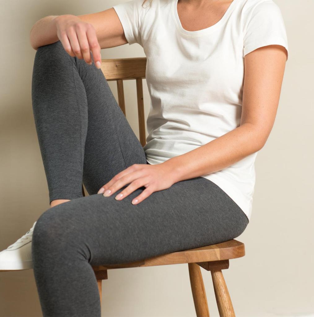 Women Organic Cotton Leggings Color: graphite melange