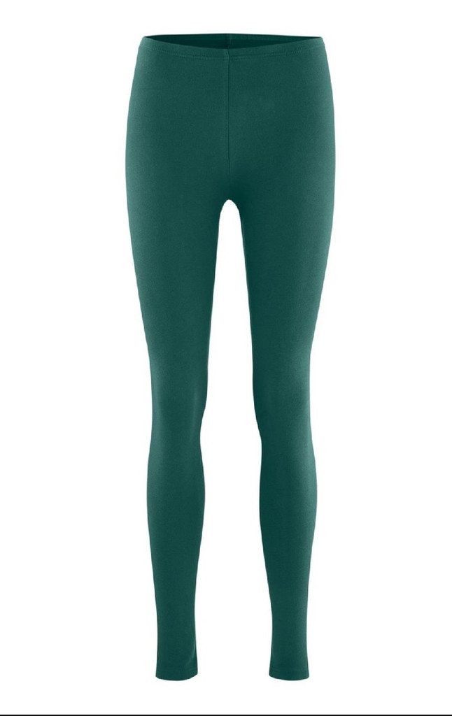 Women Organic Cotton Leggings Color: forest