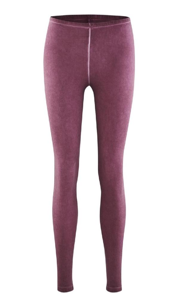 Women Organic Cotton Leggings Color: rose stone