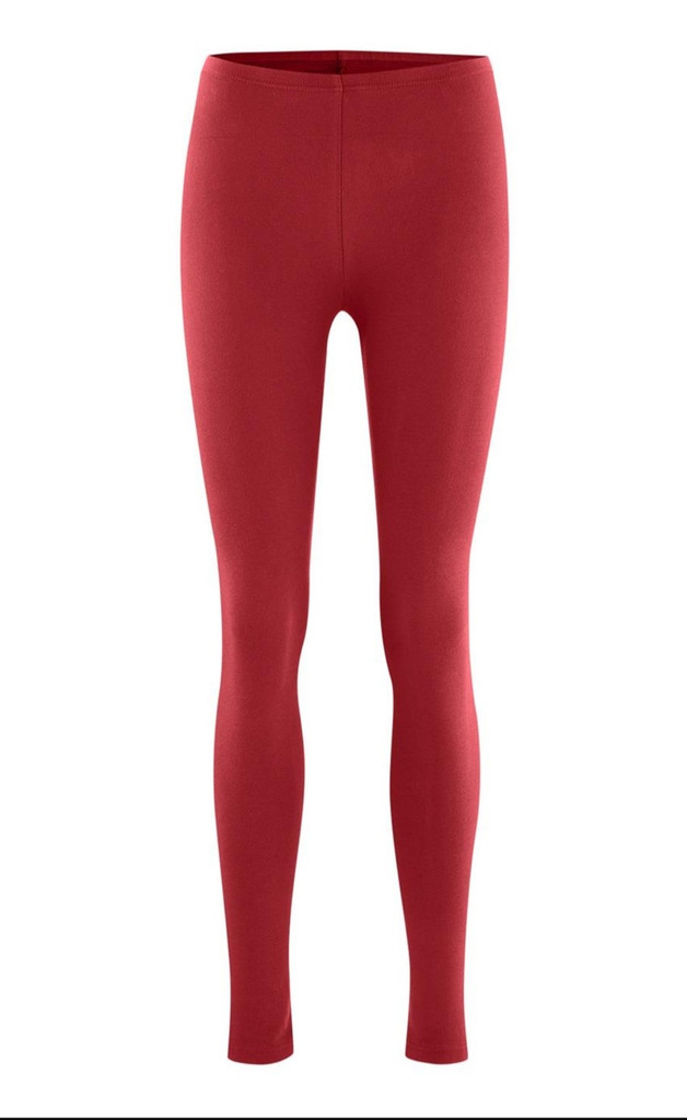 Women Organic Cotton Leggings Color: carmin