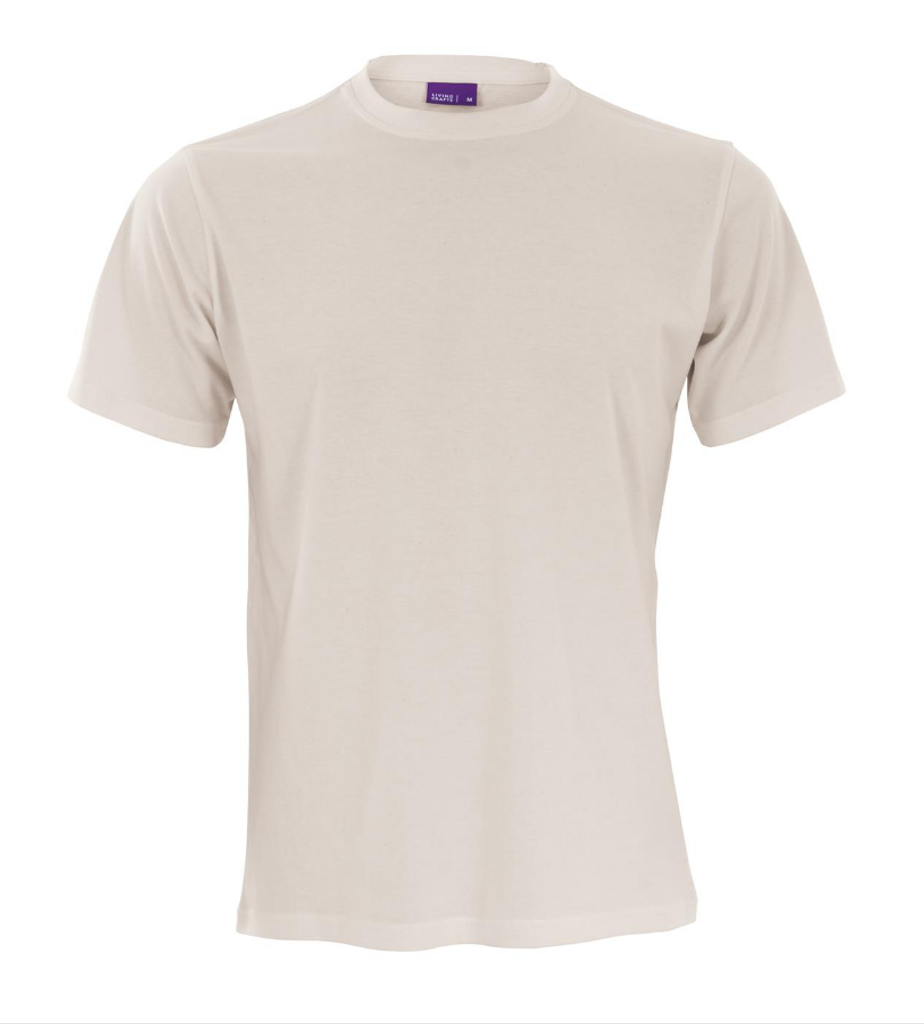 Men's Organic Cotton T-Shirt Color: Natural