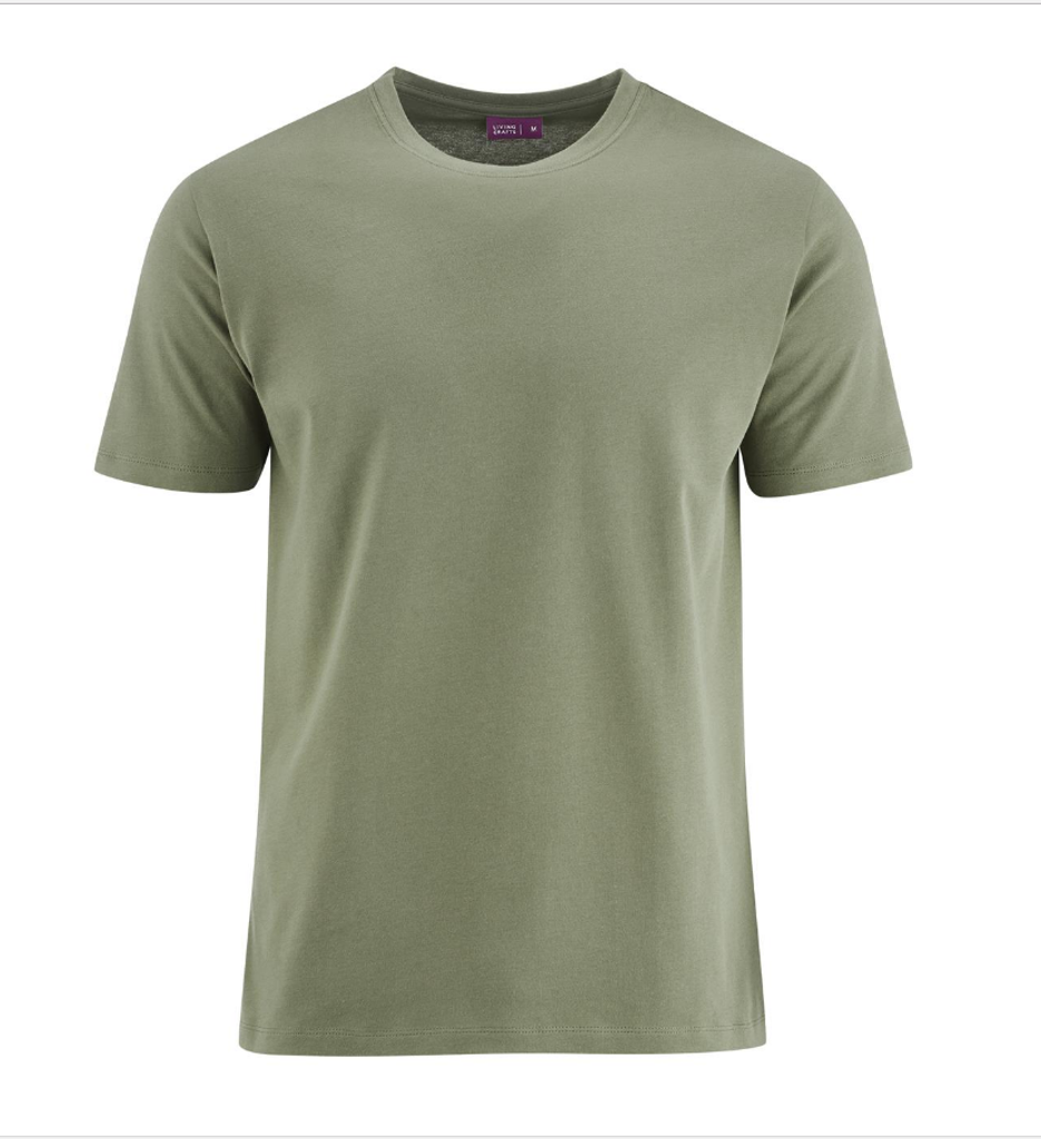 Men's Organic Cotton T-Shirt Color: Washed Olive