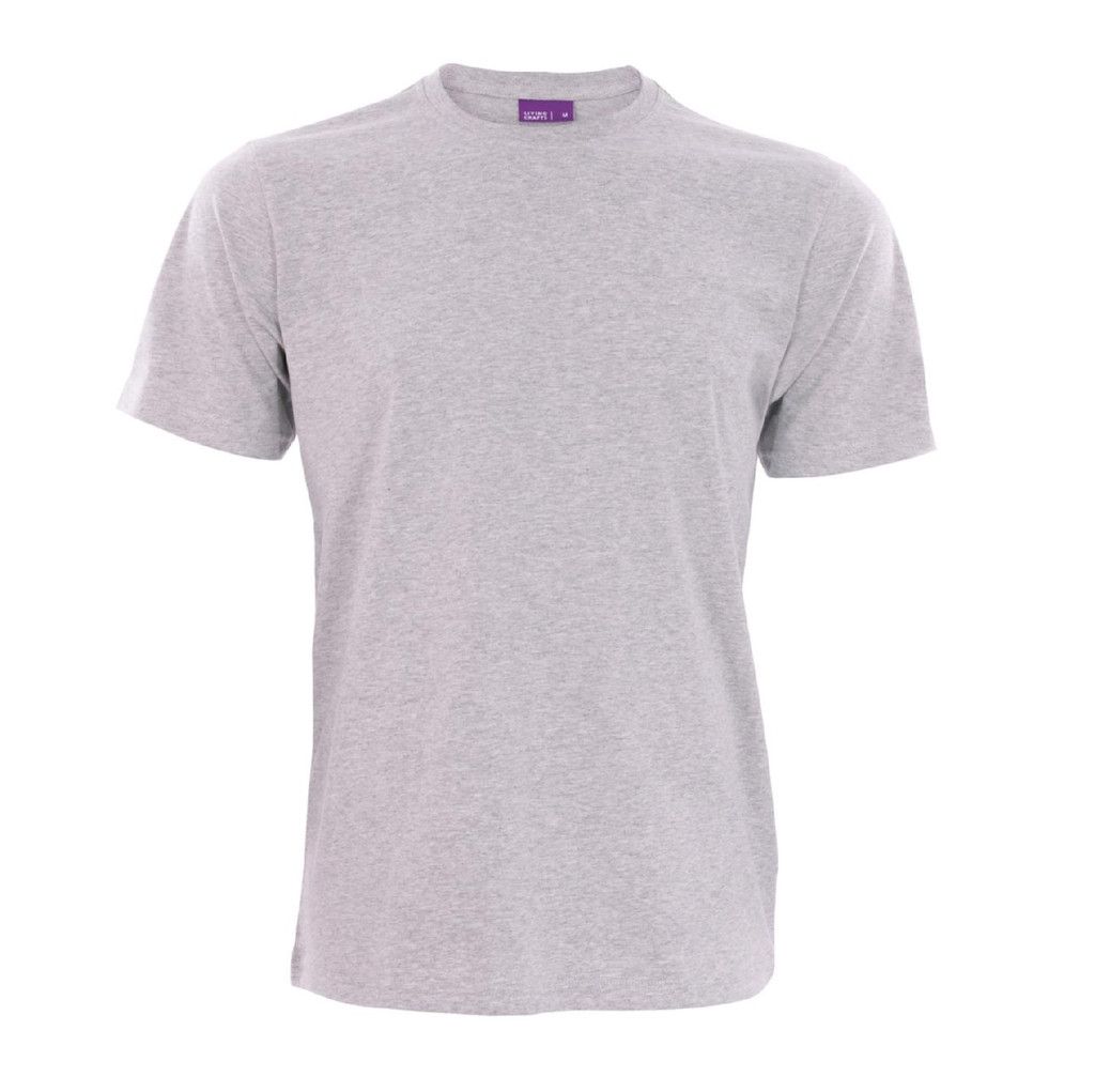 Men's Organic Cotton T-Shirt Color: Grey Melange